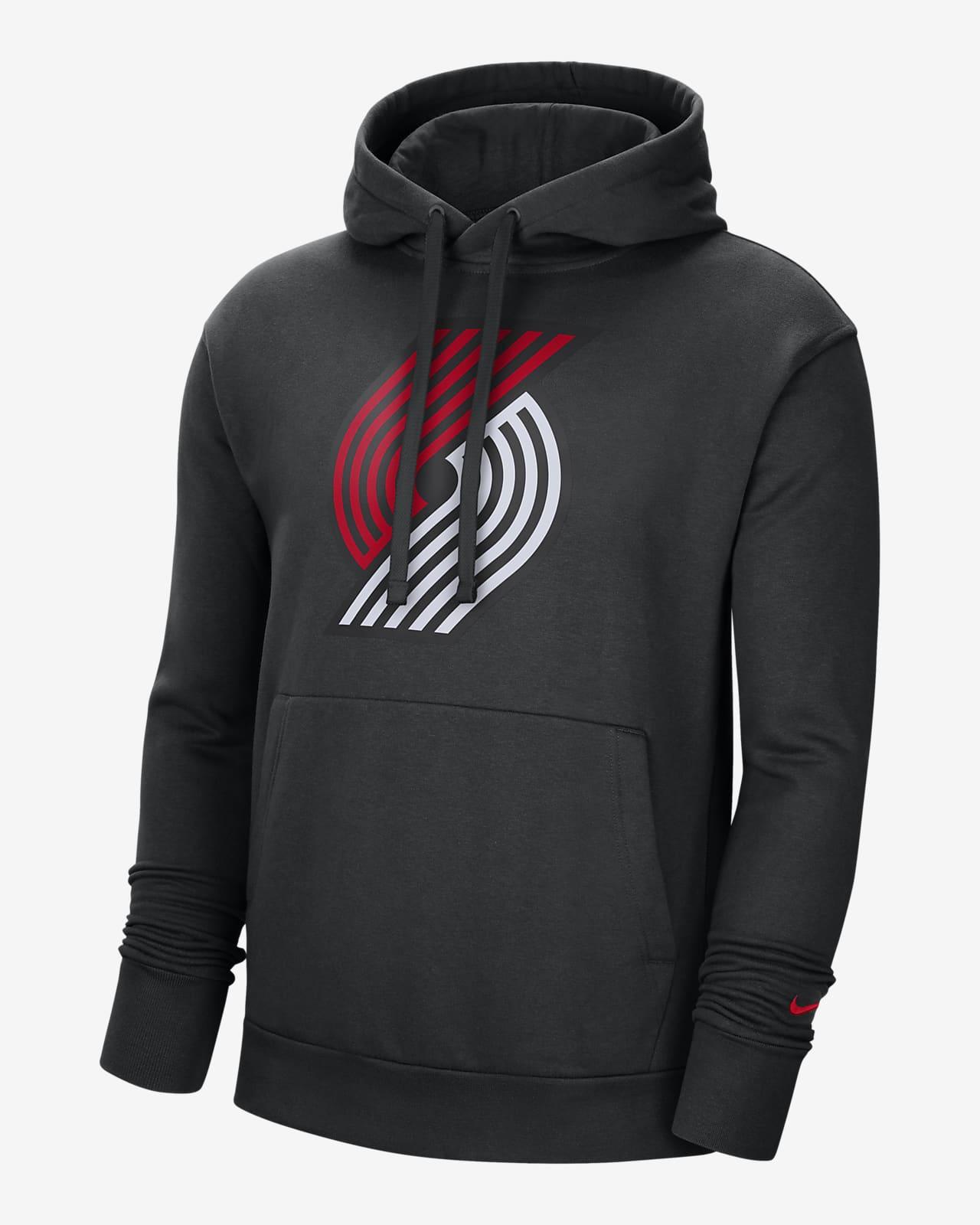 Portland Trail Blazers Essential Nike NBA-s belebújós, kapucnis férfipulóver