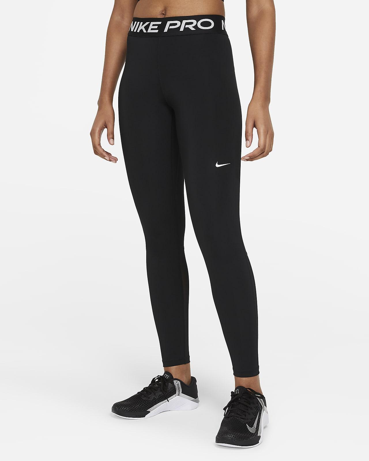 Nike Pro Leggings mit mittelhohem Bund für Damen