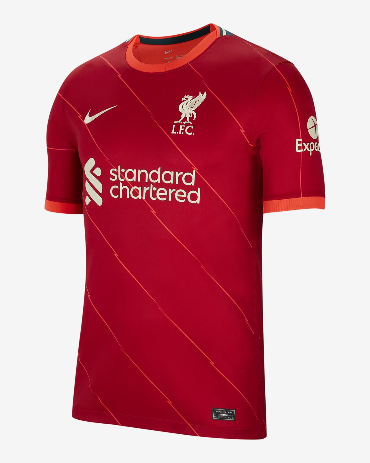 M Salah Liverpool F.C. 2021/22 Stadium Home Men's Football Shirt