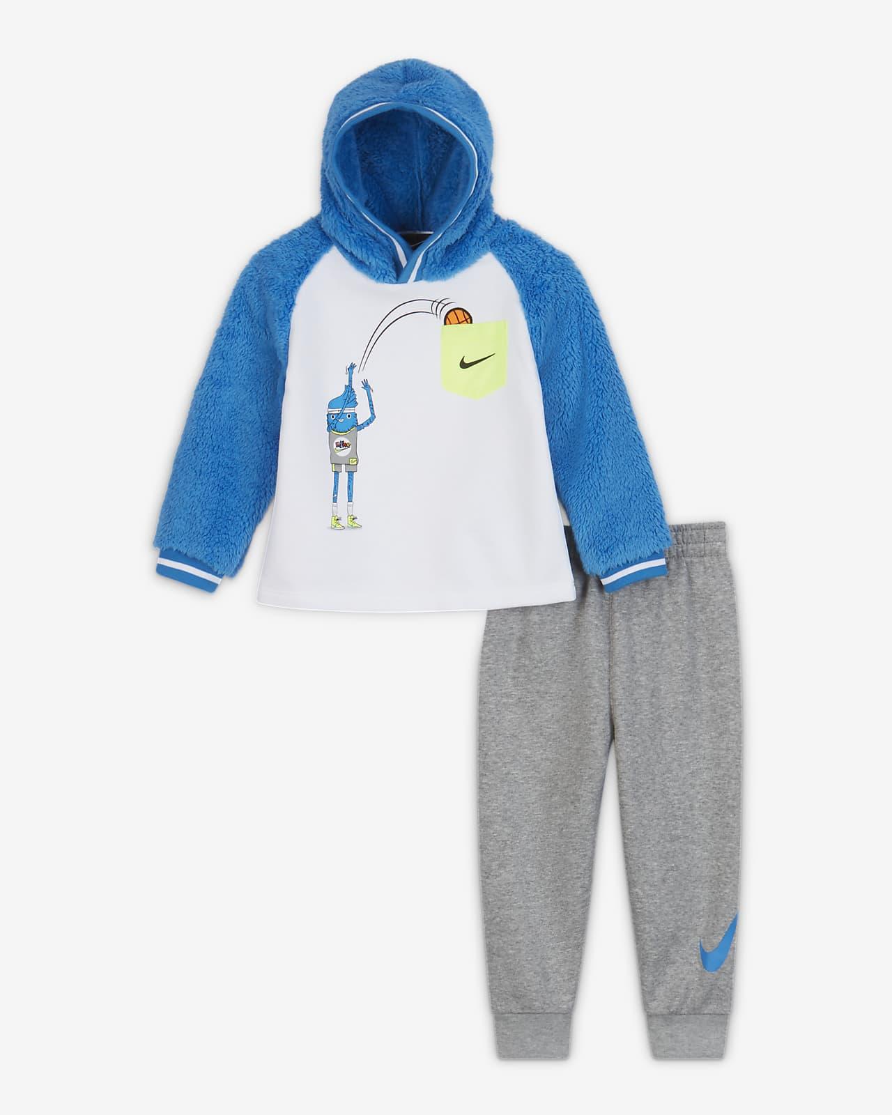 Nike kapucnis pulóver és szabadidőnadrág szett babáknak (12-24 hónapos)