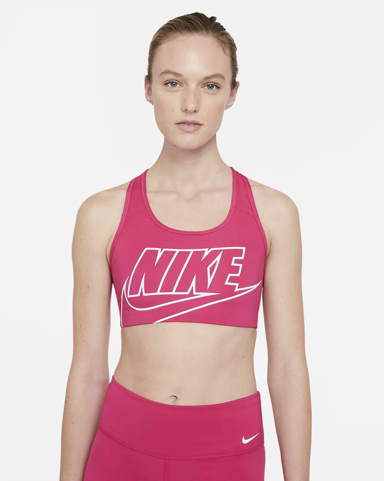 Nike Swoosh Orta Destekli Tek Parça Pedli Kadın Spor Sütyeni