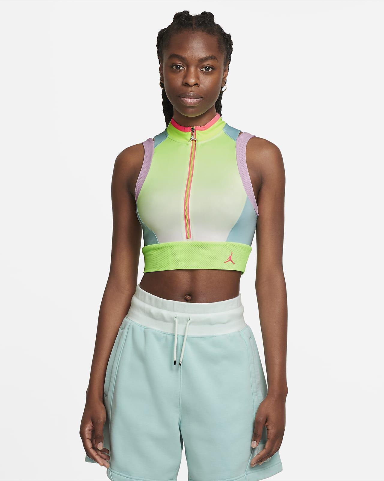เสื้อเอวลอยผู้หญิงพิมพ์ลาย Jordan Heatwave