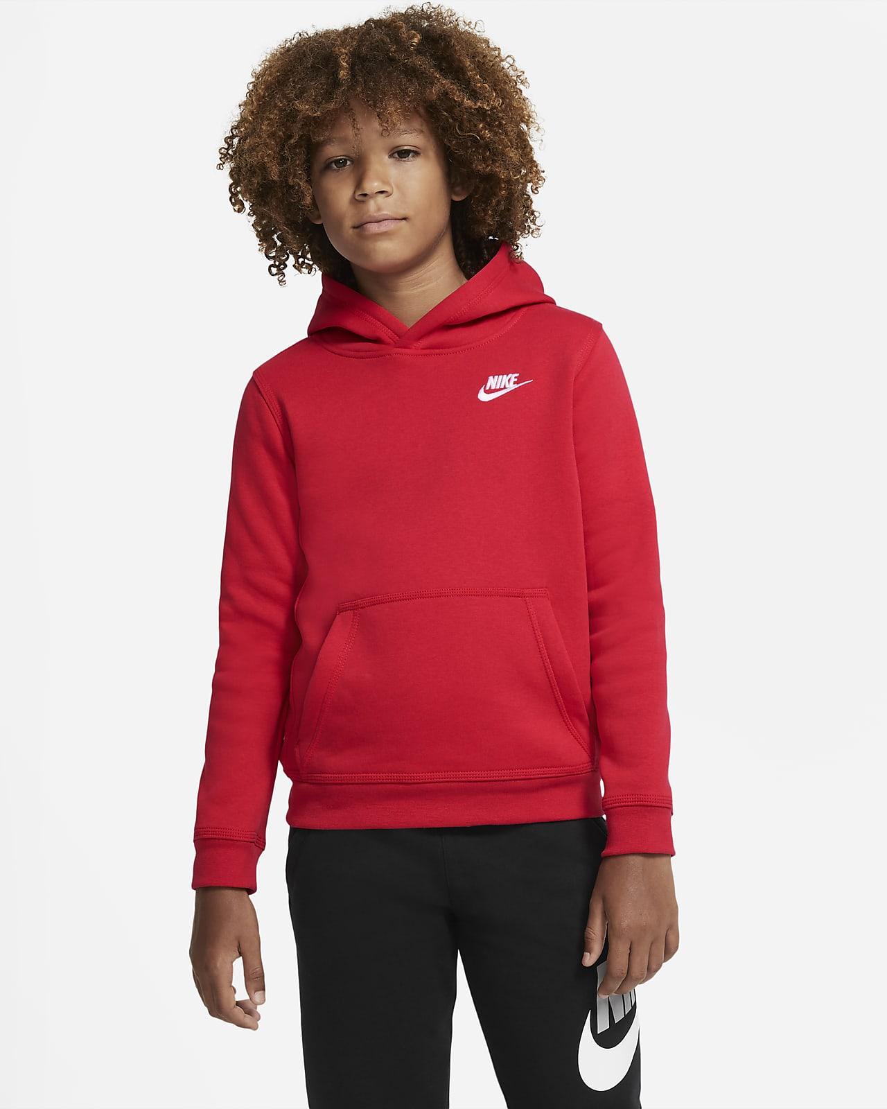 Nike Sportswear Club pullover med hette til store barn