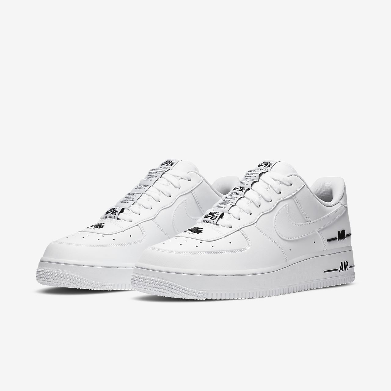 air force 1 con etichetta