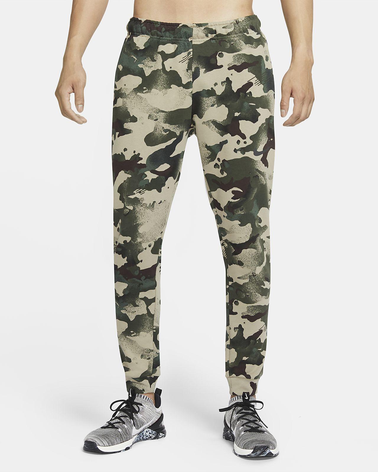 กางเกงเทรนนิ่งลายพรางผู้ชาย Nike Dri-FIT