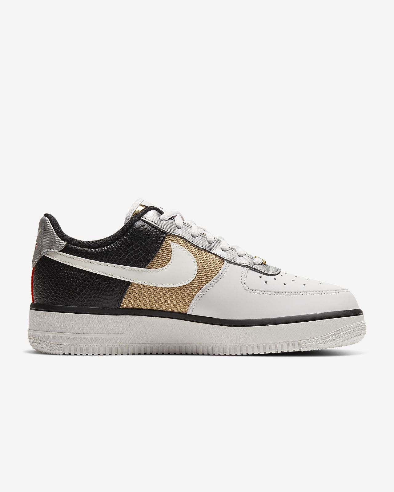 Nike Air Force 1 '07 Vast Grey Metallic Gold Shoes