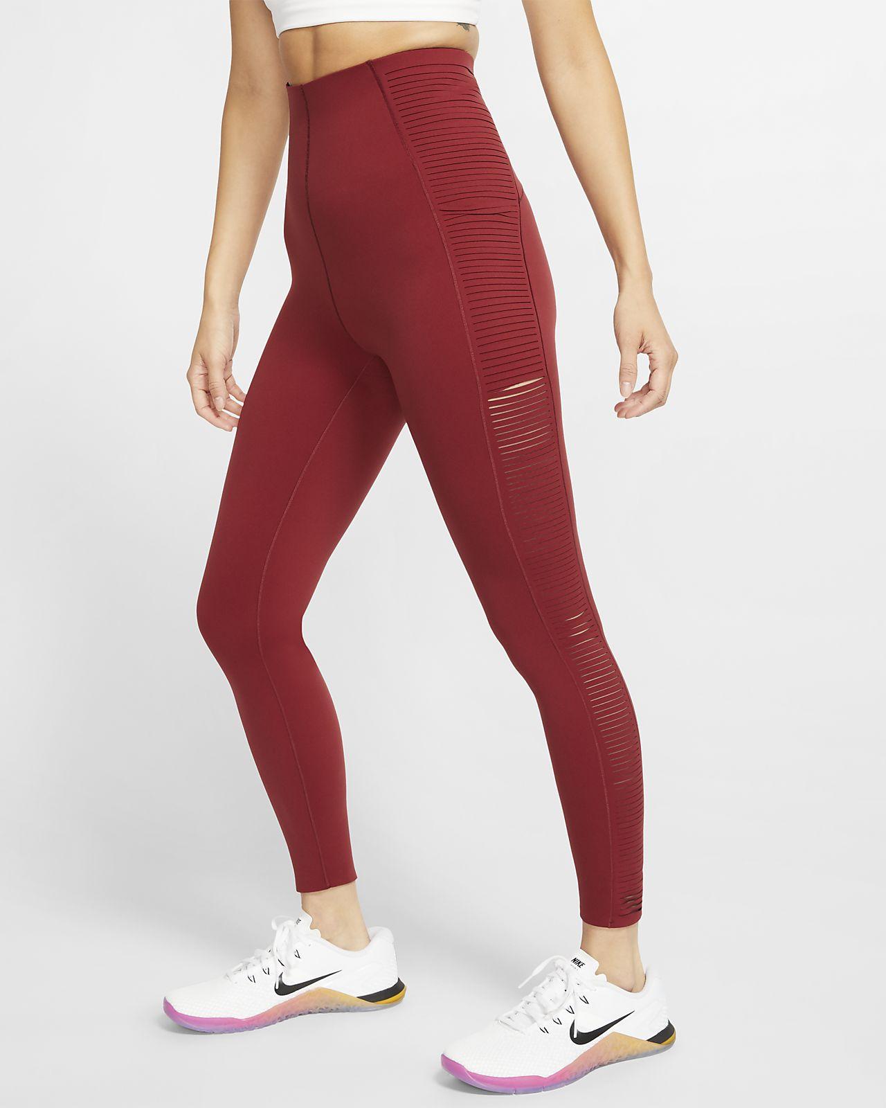 Träningstights med randad kant Nike för kvinnor