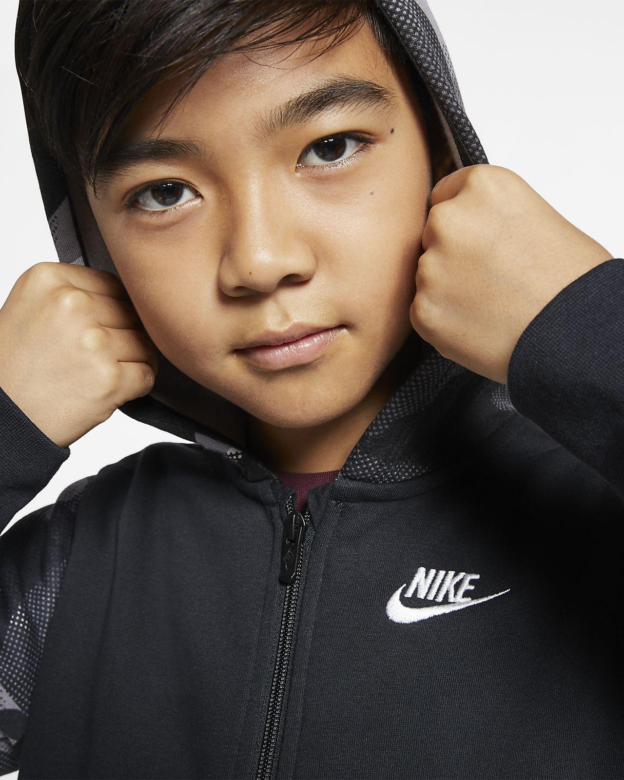Sweat à capuche et zip Nike Sportswear Club pour Garçon plus
