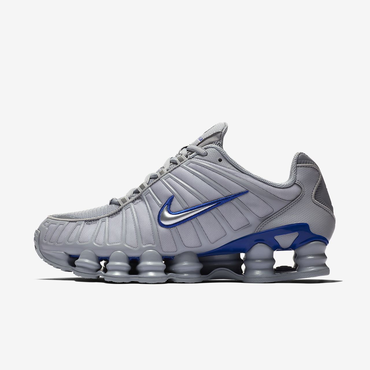 Famous Brand Nike Shox NZ All Black Silver Men's Athletic