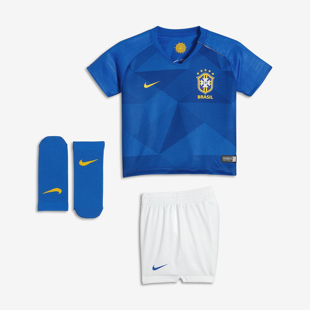 Brazil Away Baby Football Kit
