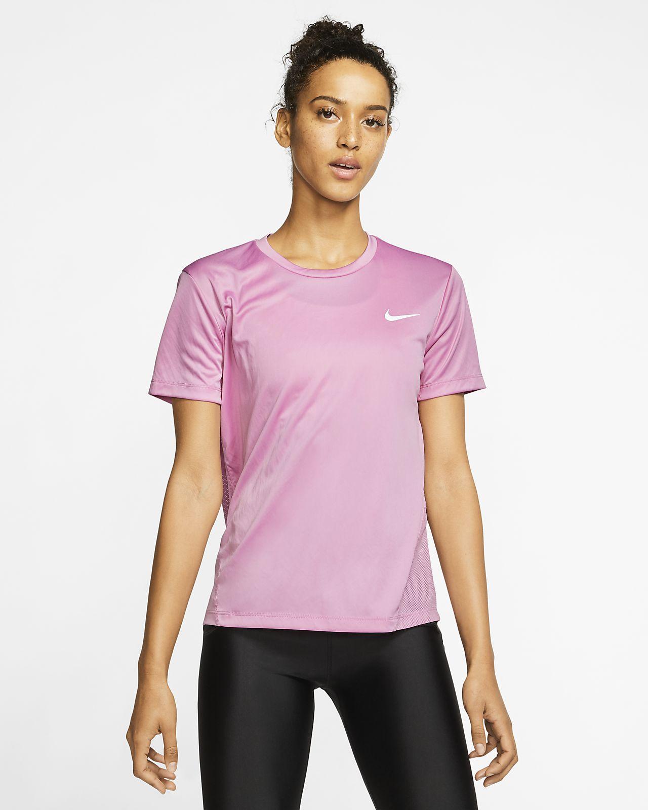 Nike Damska koszulka z krótkim rękawem do biegania Miler