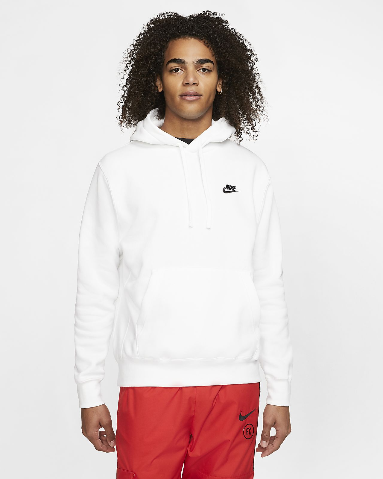 Tall Club hoodie in white