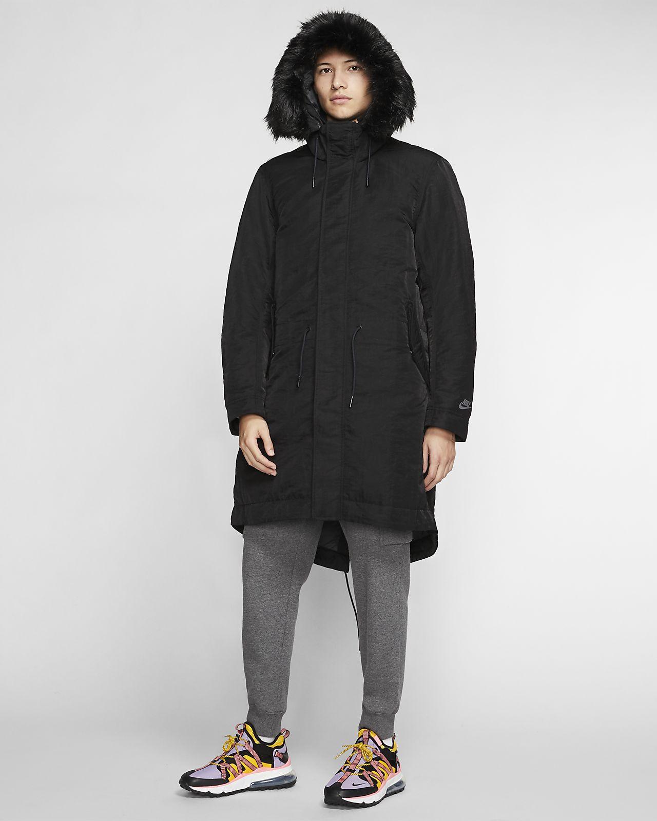 Nike Sportswear Down Fill Parka HD Jacket BlackWhite