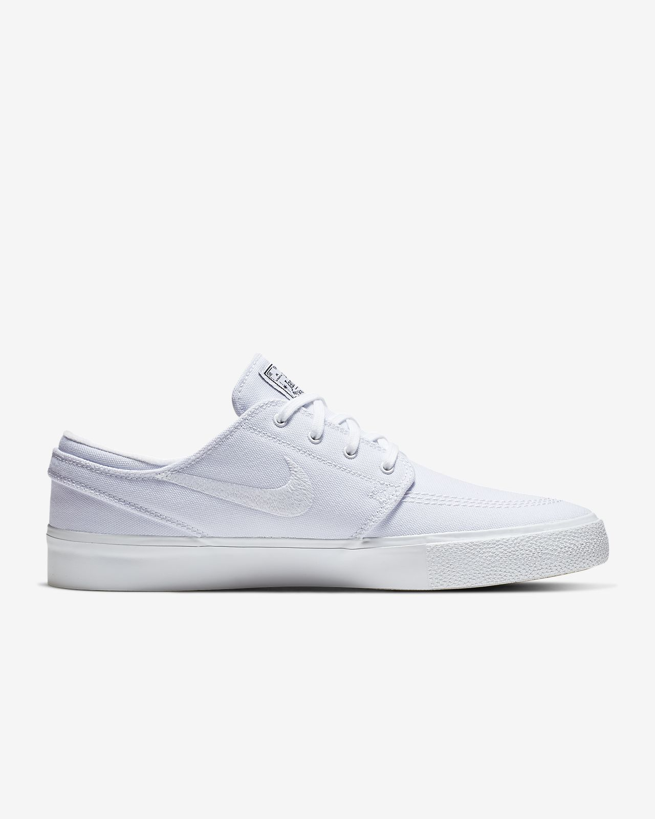 NIKE SB Zoom Stefan Janoski Canvas RM Mens White & Red Shoes