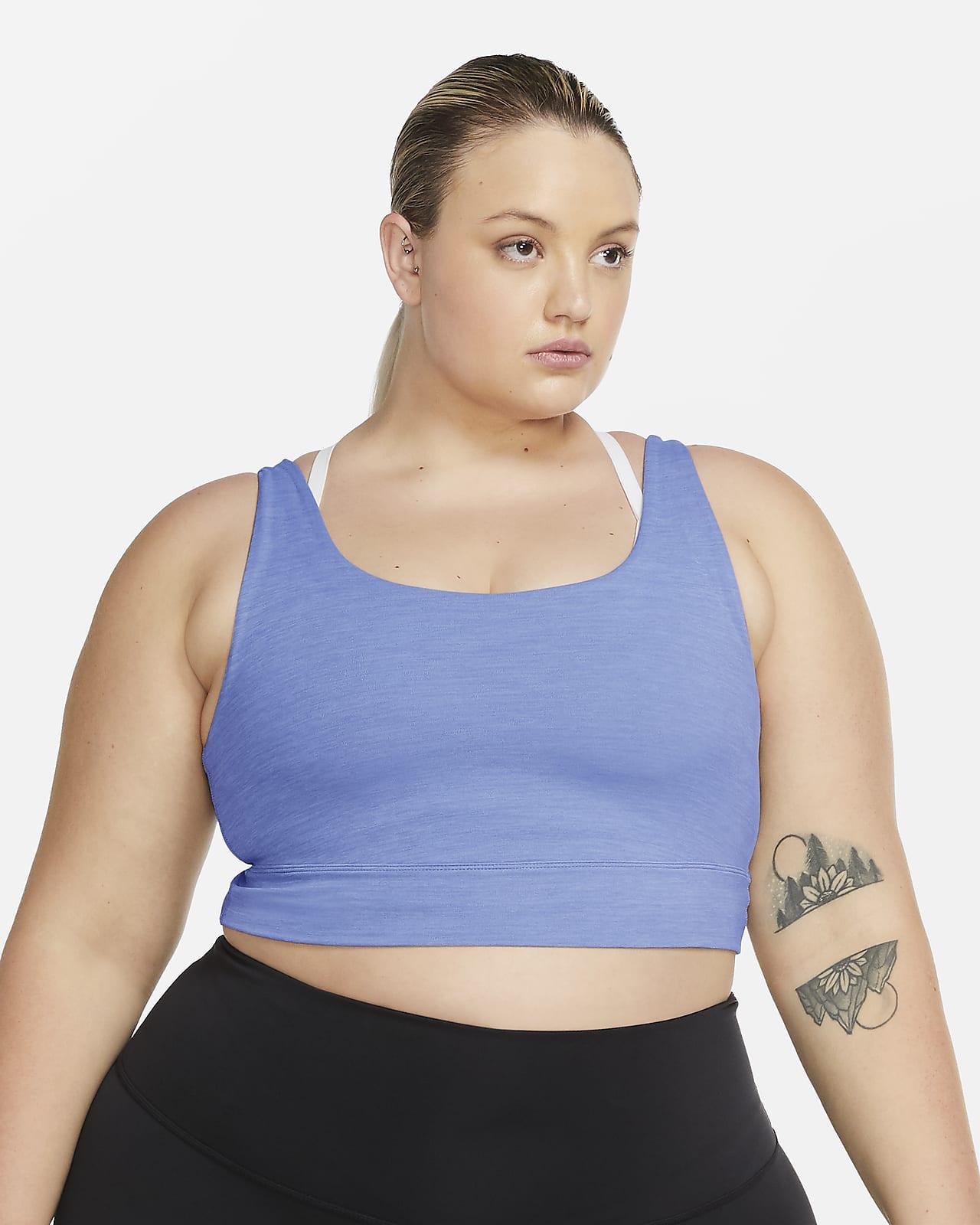 Camiseta de tirantes corta para mujer de Infinalon Nike Yoga Luxe (talla grande)