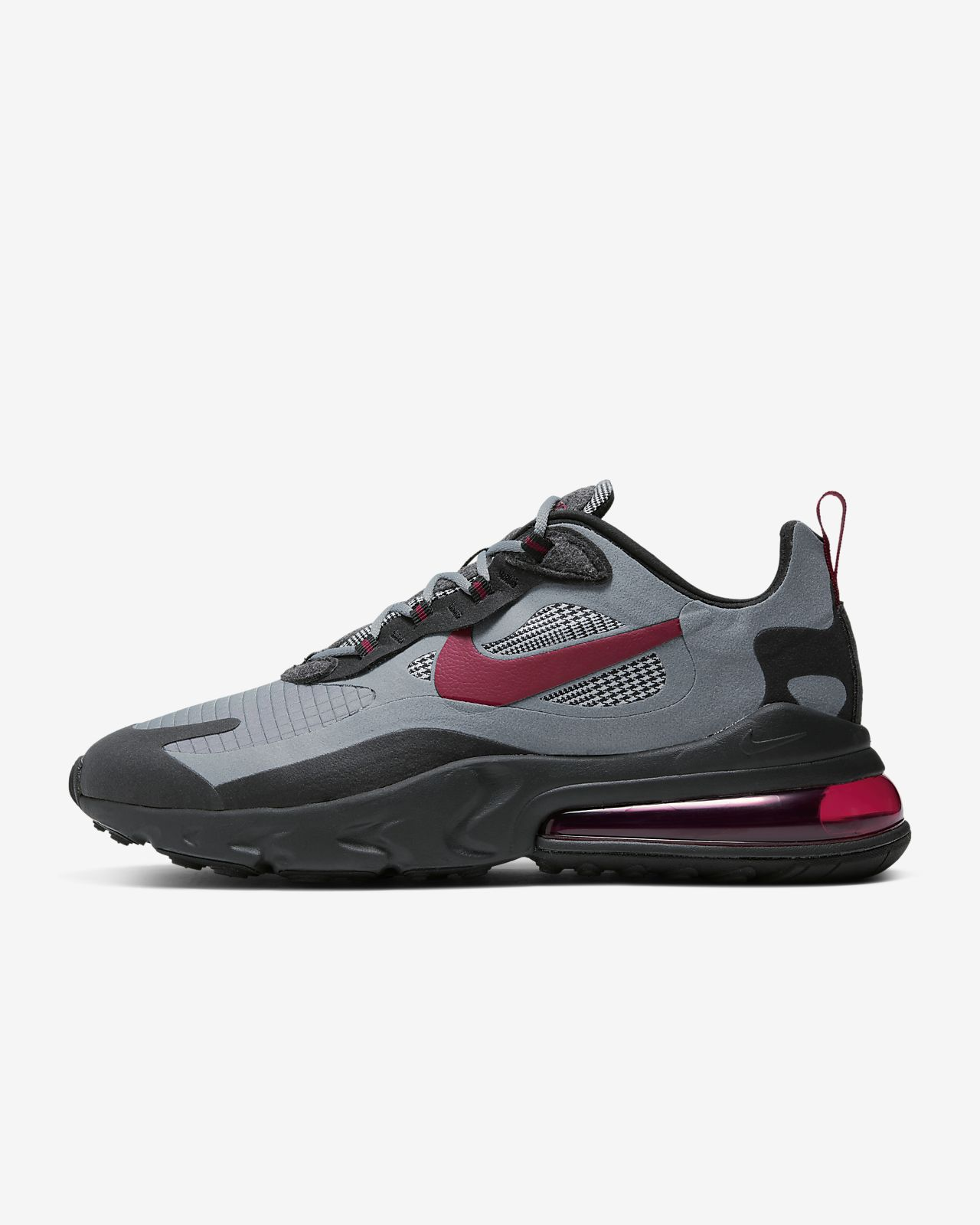 air max 270 react grey and red