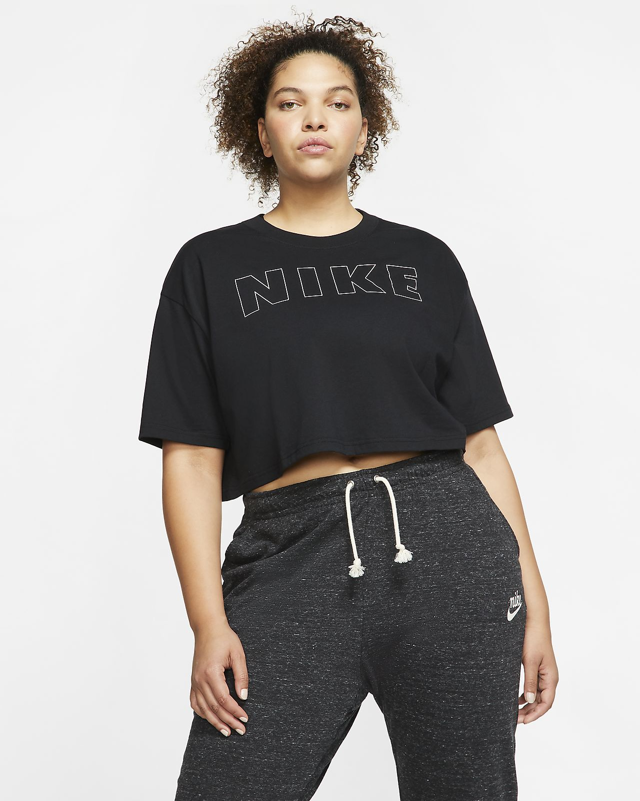 Kort Nike Air T shirt til kvinder (Plus Size). Nike DK