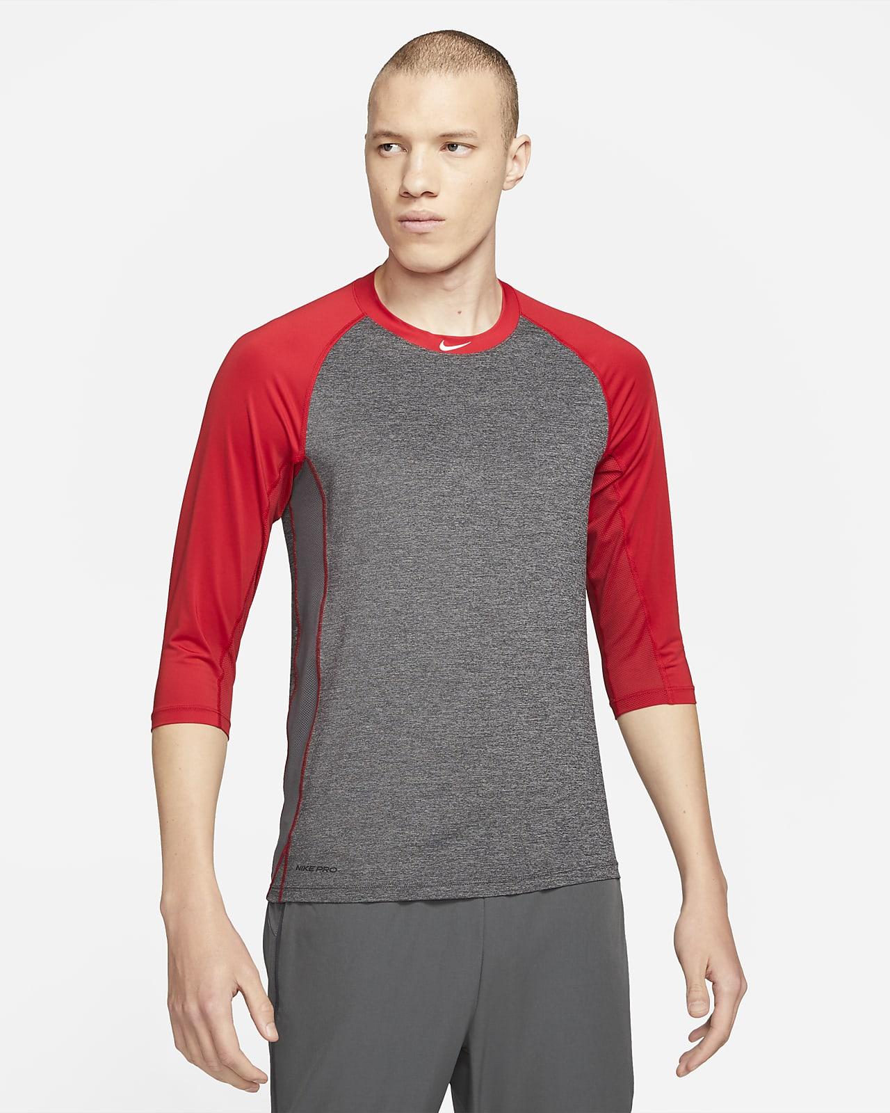 Camiseta de béisbol de manga 3/4 para hombre Nike Pro Dri-FIT