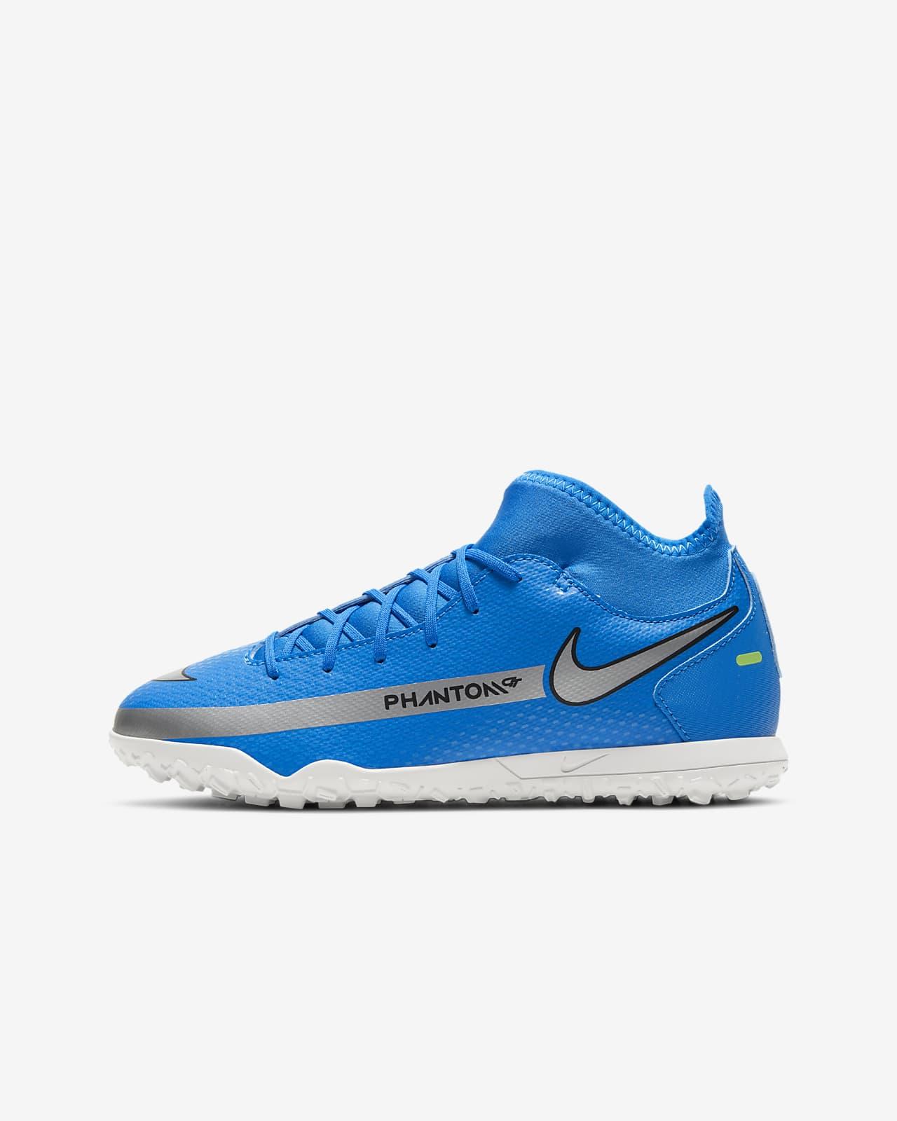 Calzado de fútbol para pasto deportifvo artificial (turf) para niños talla pequeña/grande Nike Jr. Phantom GT Club Dynamic Fit TF