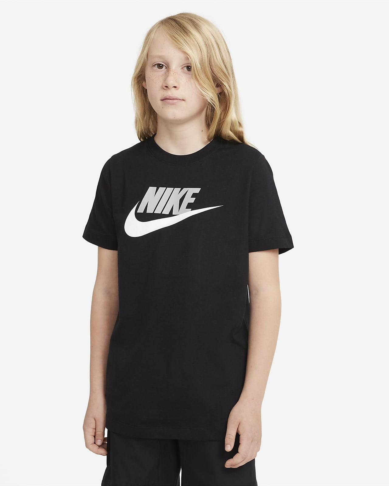 Playera de algodón para niños talla grande Nike Sportswear