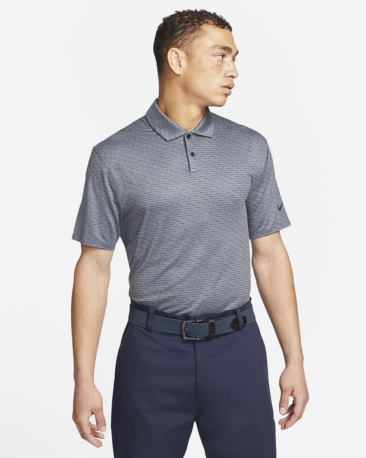 Polo de golf a rayas para hombre Nike Dri-FIT Vapor