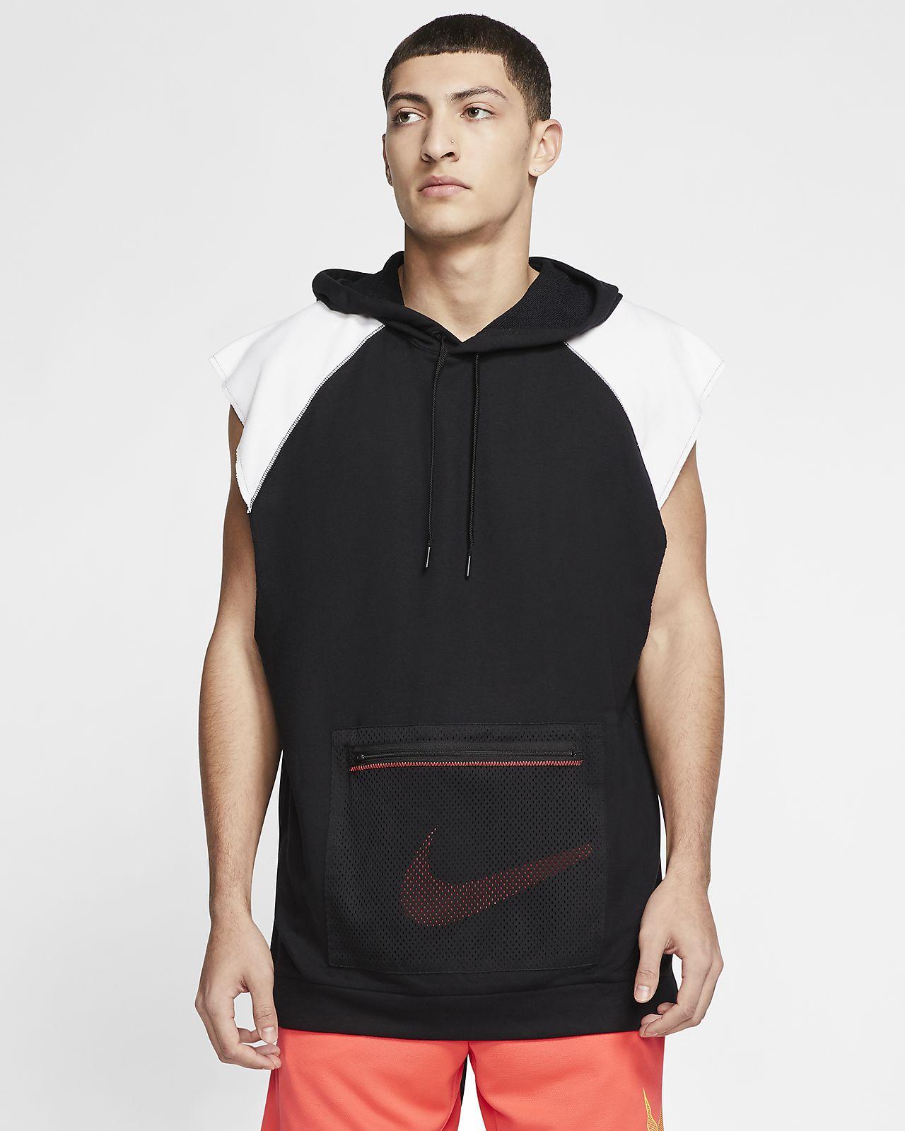 Sudadera con gorro de entrenamiento y tejido Fleece sin mangas para hombre Nike Dri-FIT