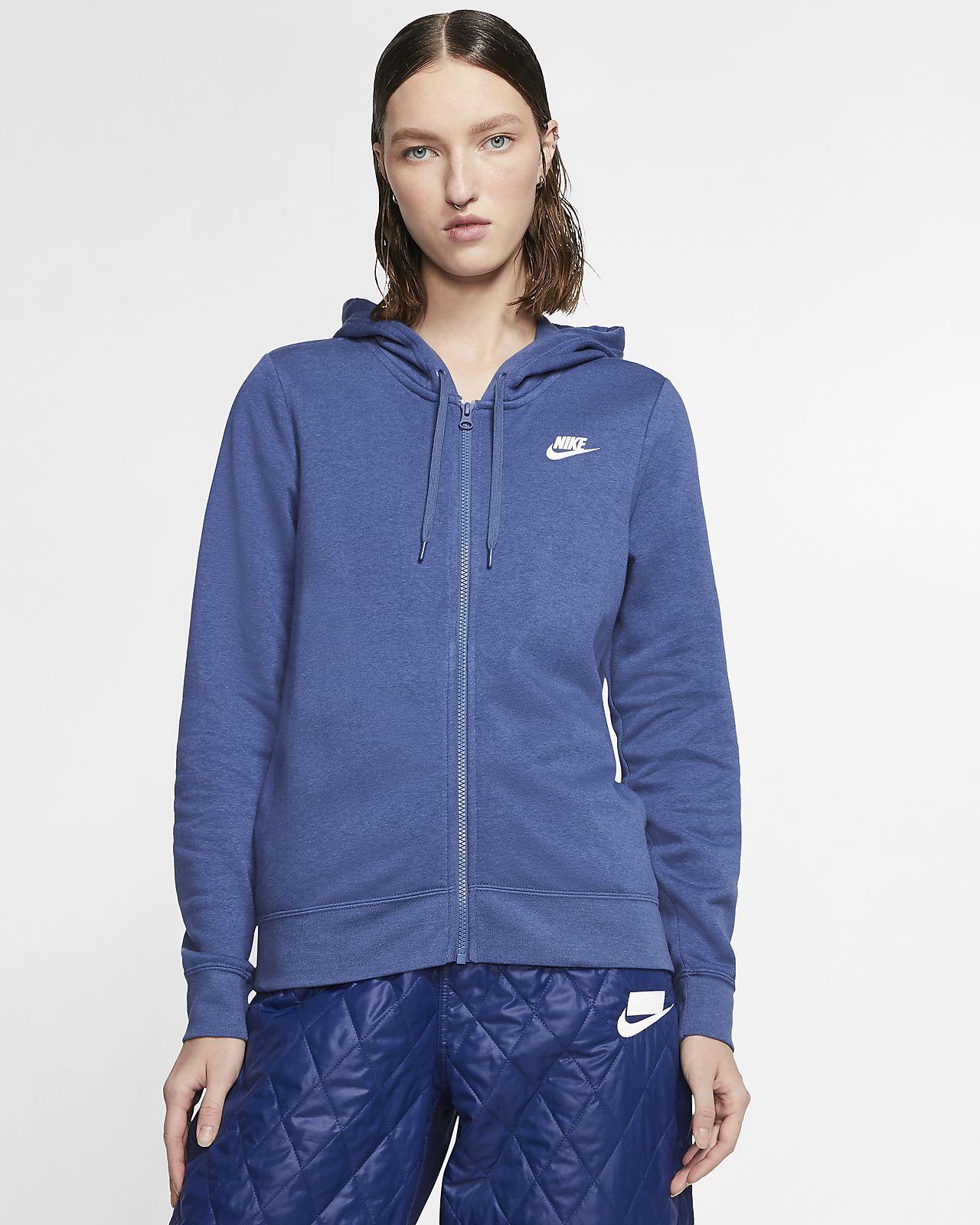 Sudadera con capucha de cierre completo de tejido Fleece para mujer Nike Sportswear