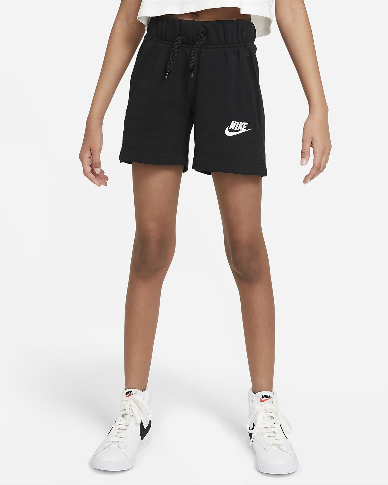 Calções em tecido moletão Nike Sportswear Club Júnior (Rapariga)