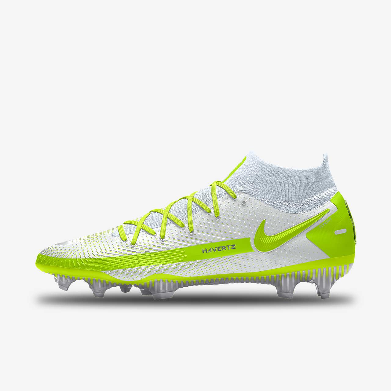 รองเท้าสตั๊ดฟุตบอลสำหรับพื้นสนามทั่วไปออกแบบเอง Nike Phantom GT Elite By You