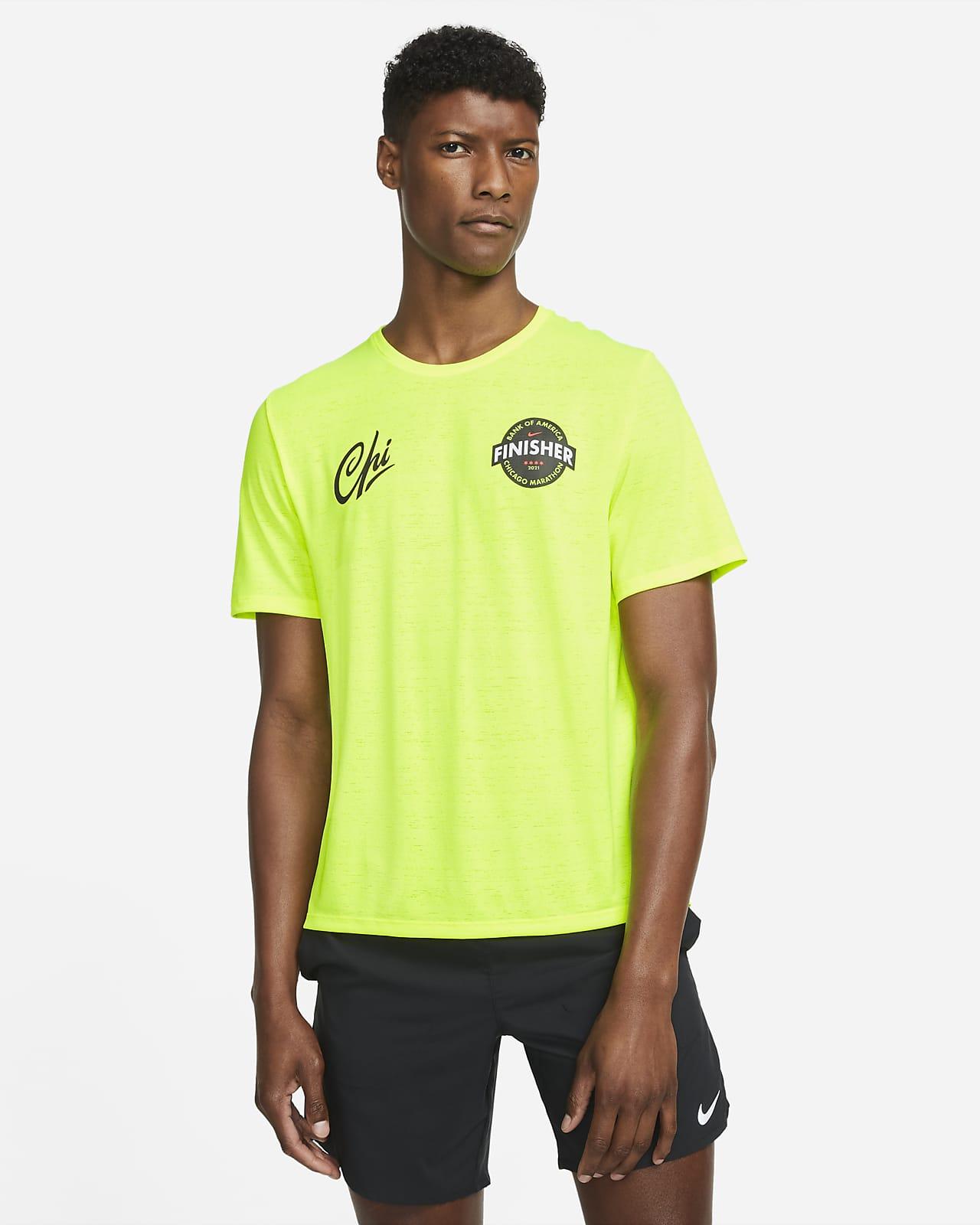 Nike Dri-FIT Chicago Miler Men's Short-Sleeve Finisher Running Top