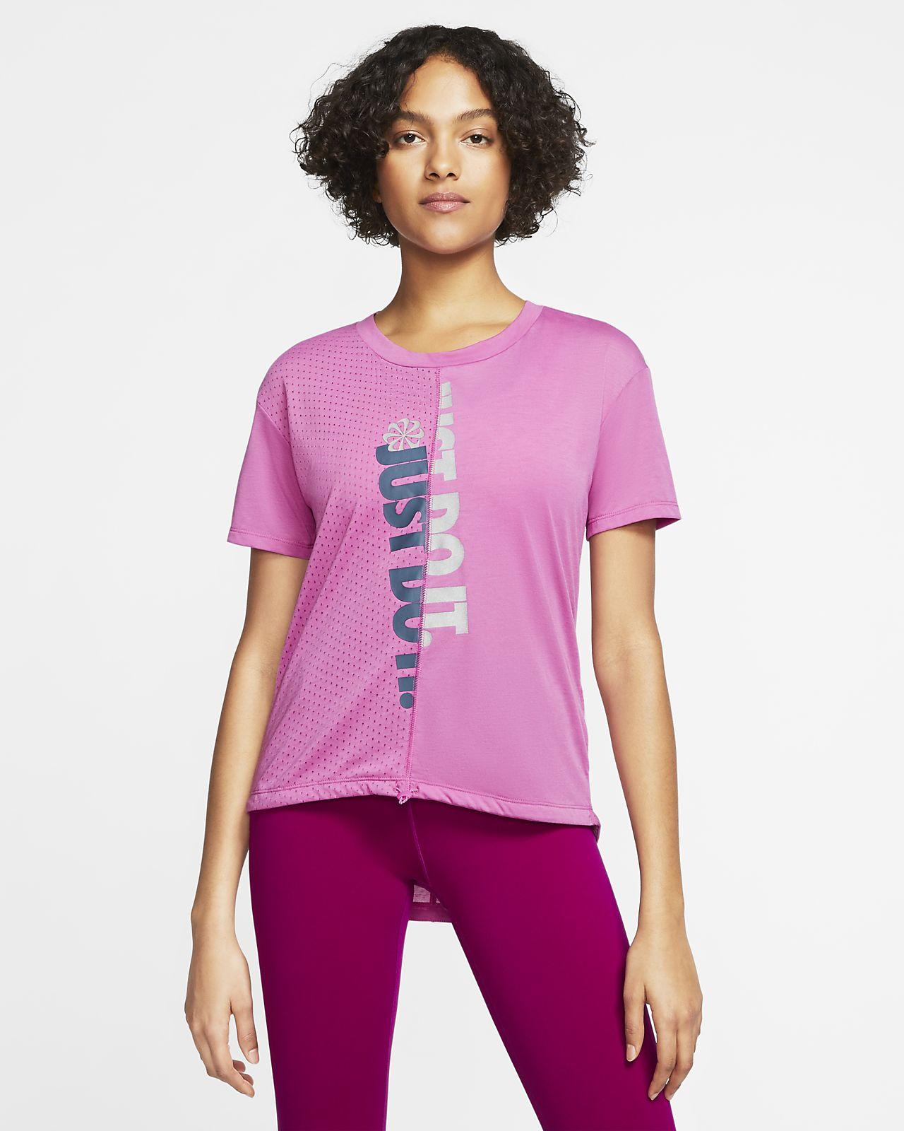 Женская беговая футболка с коротким рукавом Nike Icon Clash