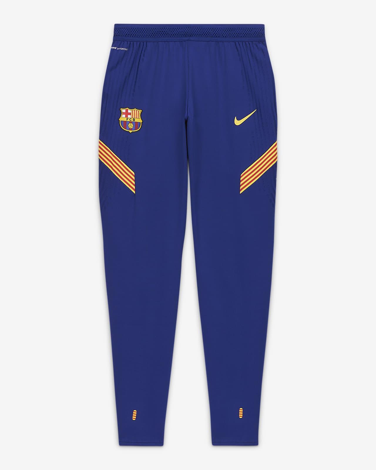 Męskie spodnie piłkarskie FC Barcelona VaporKnit Strike