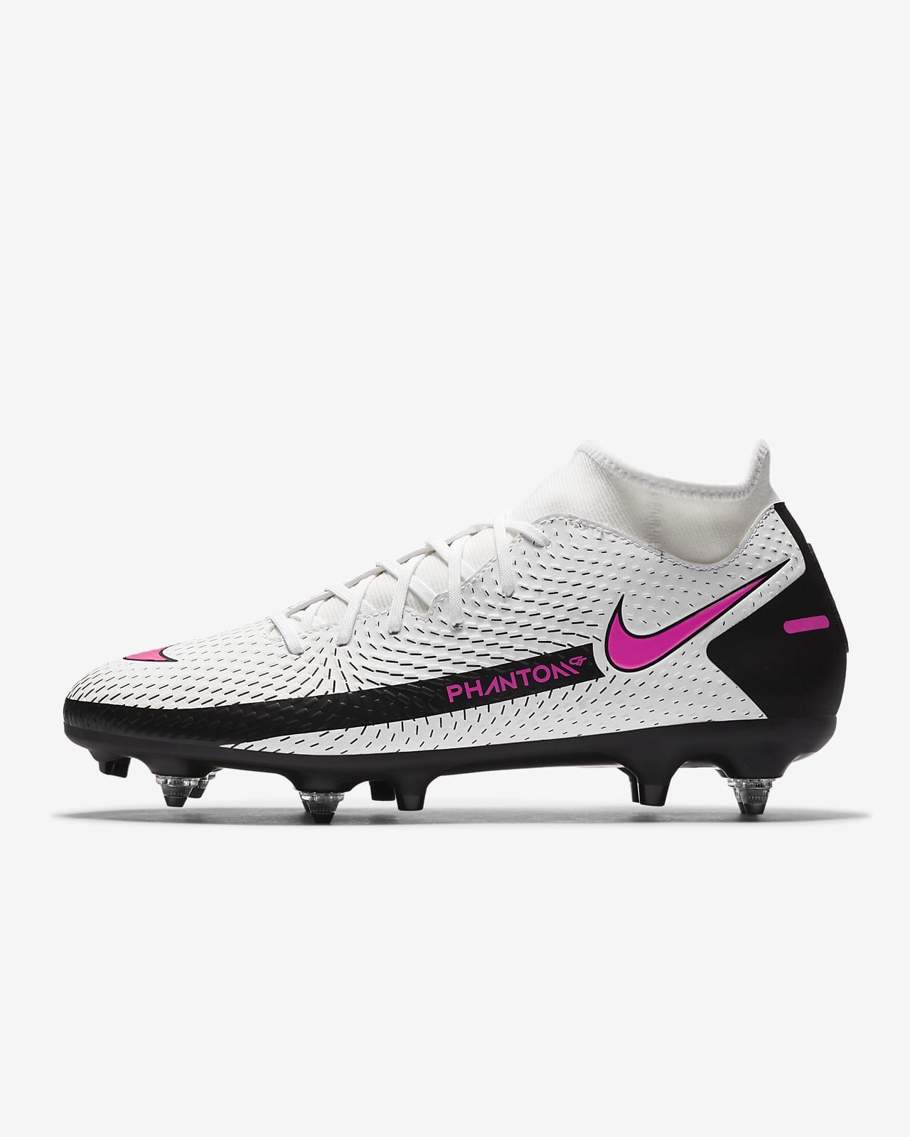 Футбольные бутсы для игры на мягком грунте Nike Phantom GT Academy Dynamic Fit SG-PRO Anti-Clog Traction