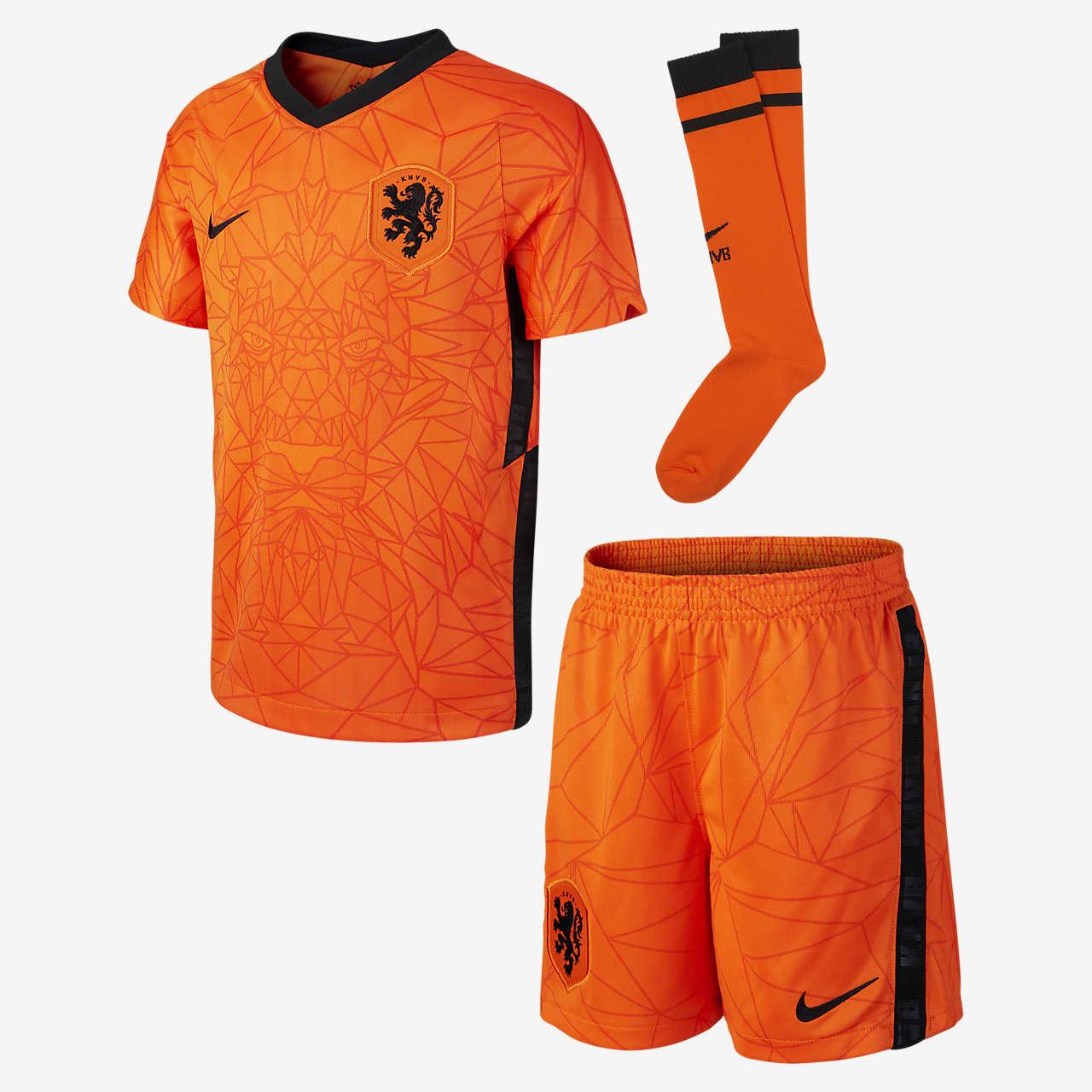 Domácí fotbalová souprava Nizozemí 2020 pro malé děti