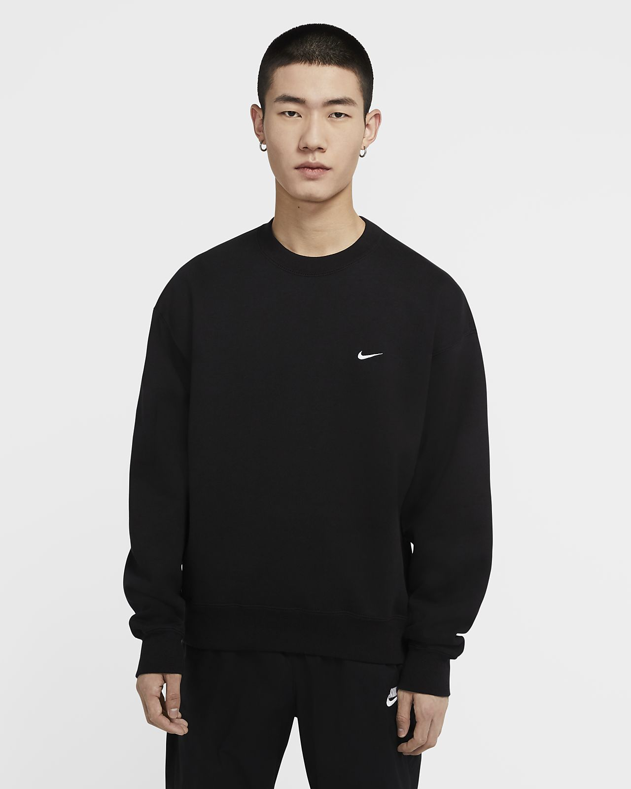 NikeLab 男子起绒圆领上衣