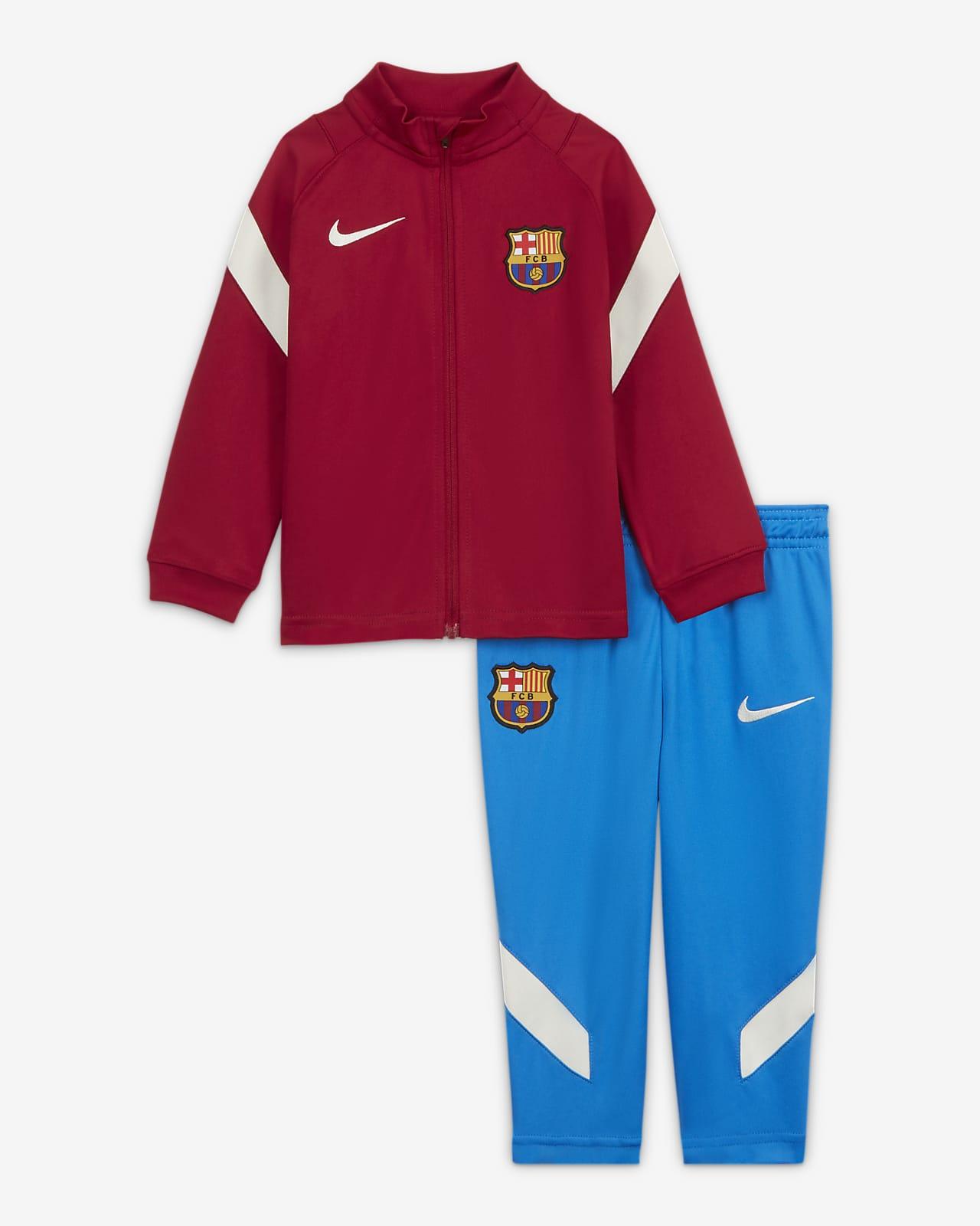 FC Barcelona Strike Nike Dri-FIT Strick-Fußball-Trainingsanzug für Babys/Kleinkinder