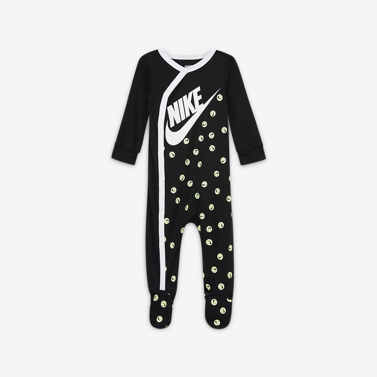 Nike Baby (0-9M) Long-Sleeve Footed