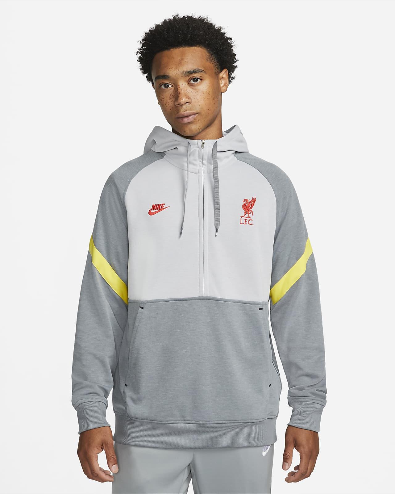 Liverpool F.C. Men's 1/2-Zip Fleece Football Hoodie