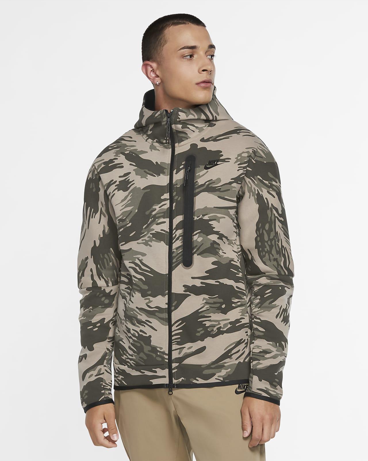 Nike Sportswear Tech Fleece Men's Full-Zip Camo Hoodie