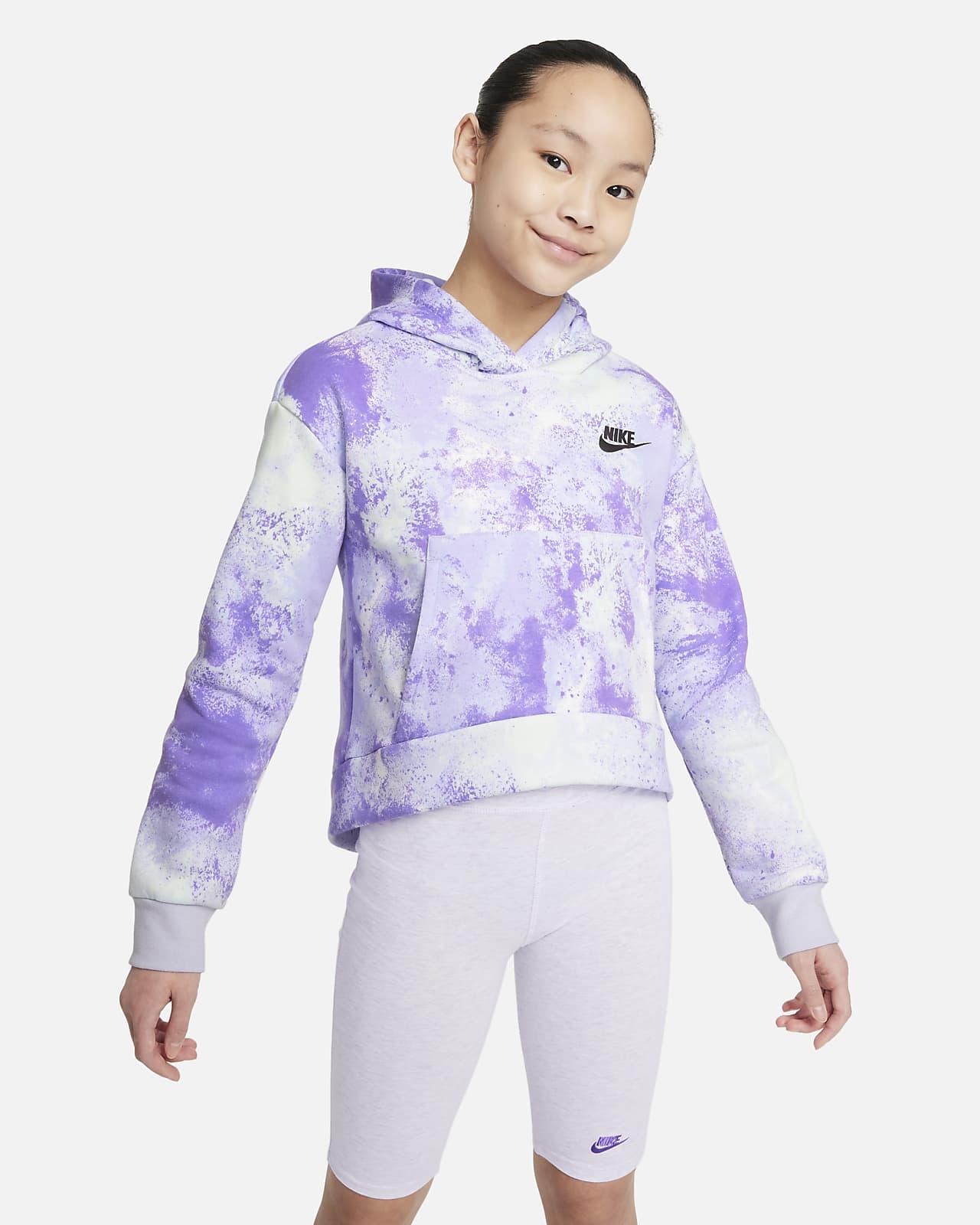 Nike Sportswear Club Big Kids' (Girls') Pullover Hoodie