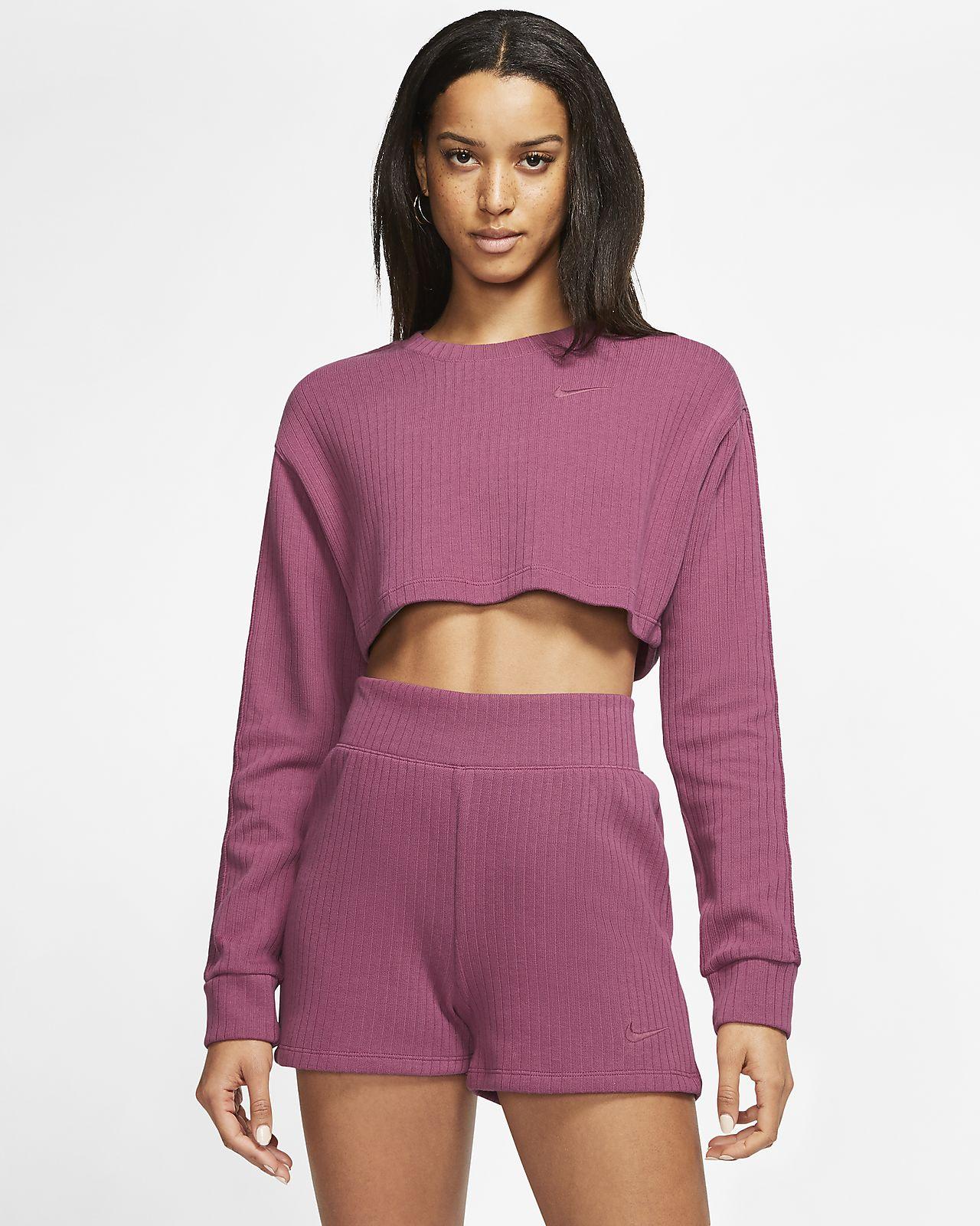 Ribbad tröja Nike Sportswear för kvinnor