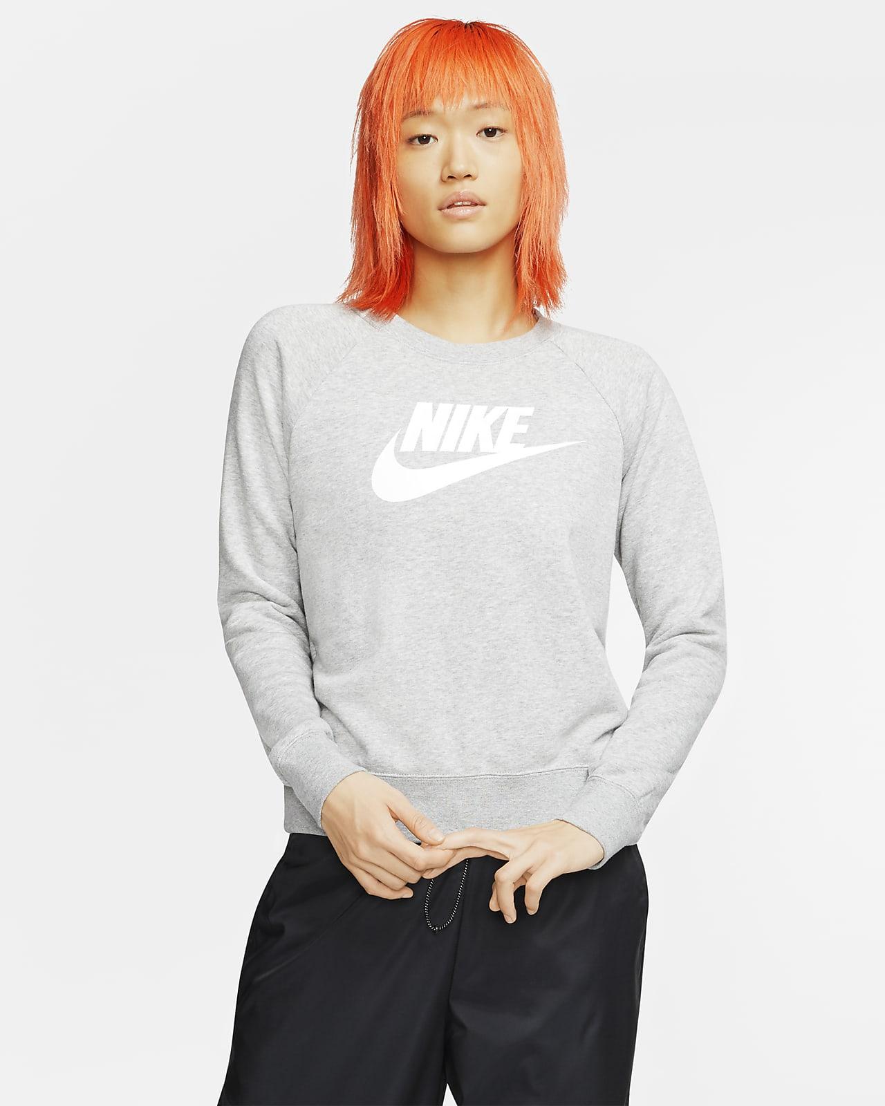 Nike Sportswear Essential Fleece-Rundhalsshirt für Damen