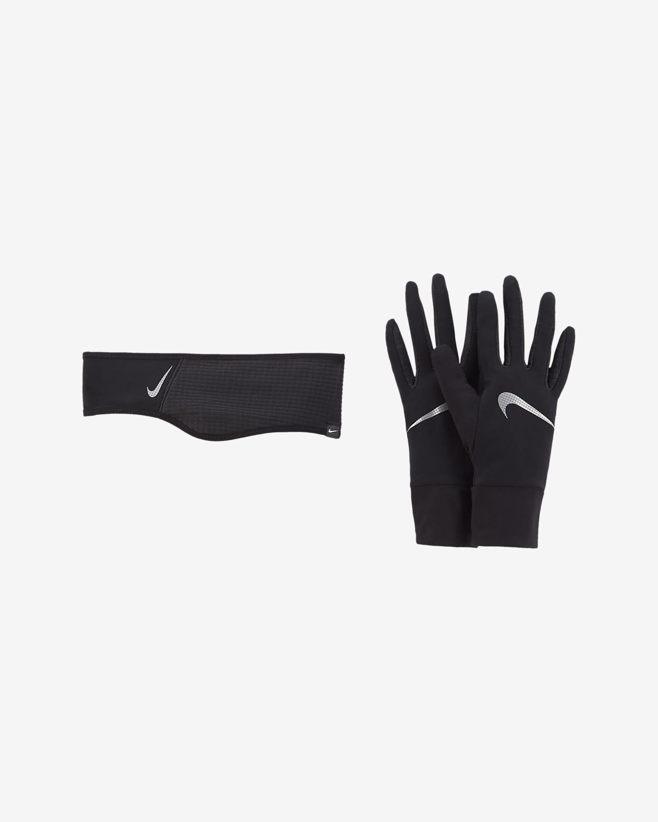 Nike Essential Women's Running Headband and Glove Set