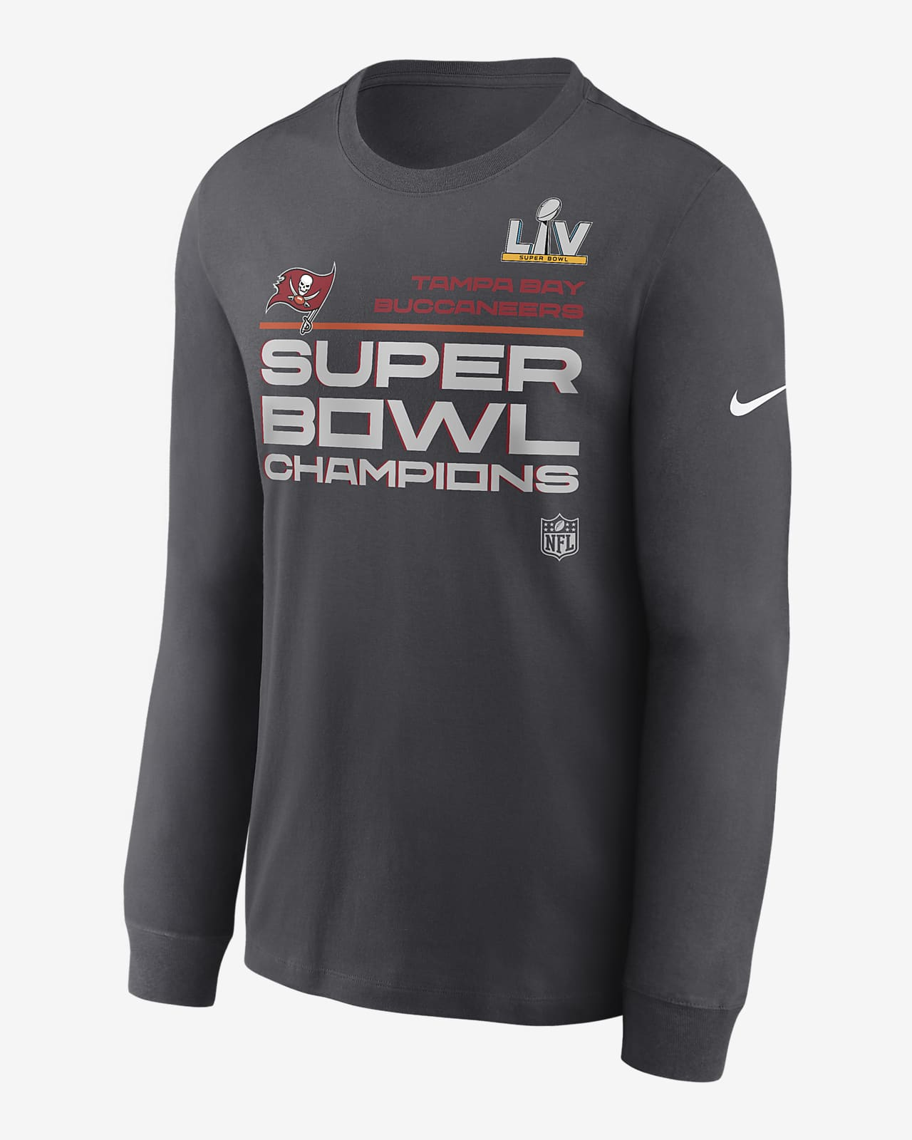 Nike Super Bowl LV Champions Trophy Collection (NFL Tampa Bay Buccaneers) Men's Long-Sleeve T-Shirt