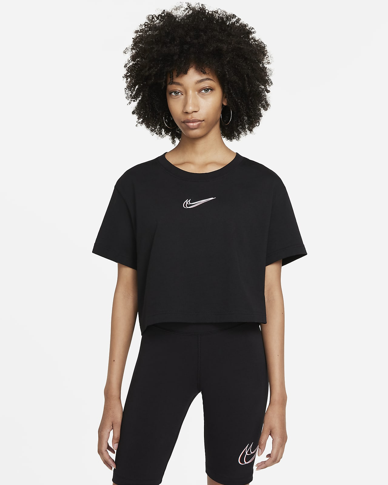 Damski T-shirt do tańca o krótkim kroju Nike Sportswear