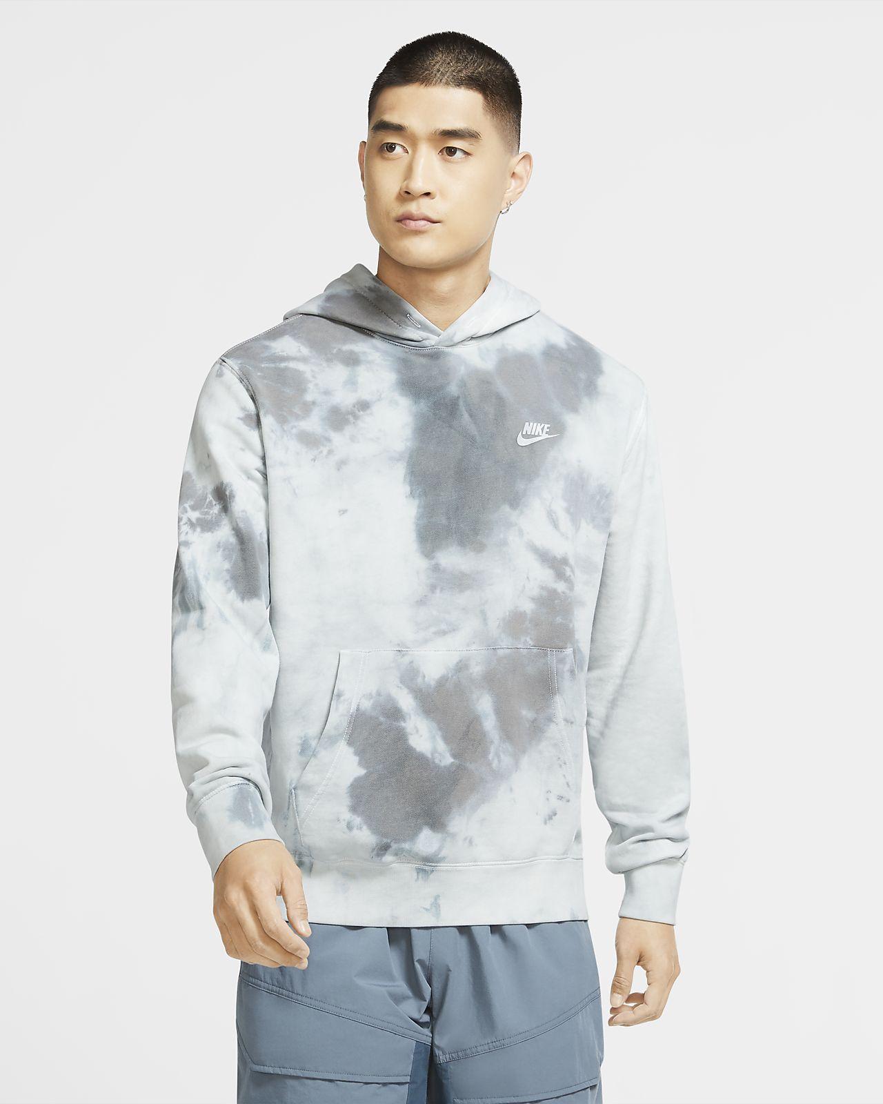 Felpa pullover tie-dye con cappuccio Nike Sportswear