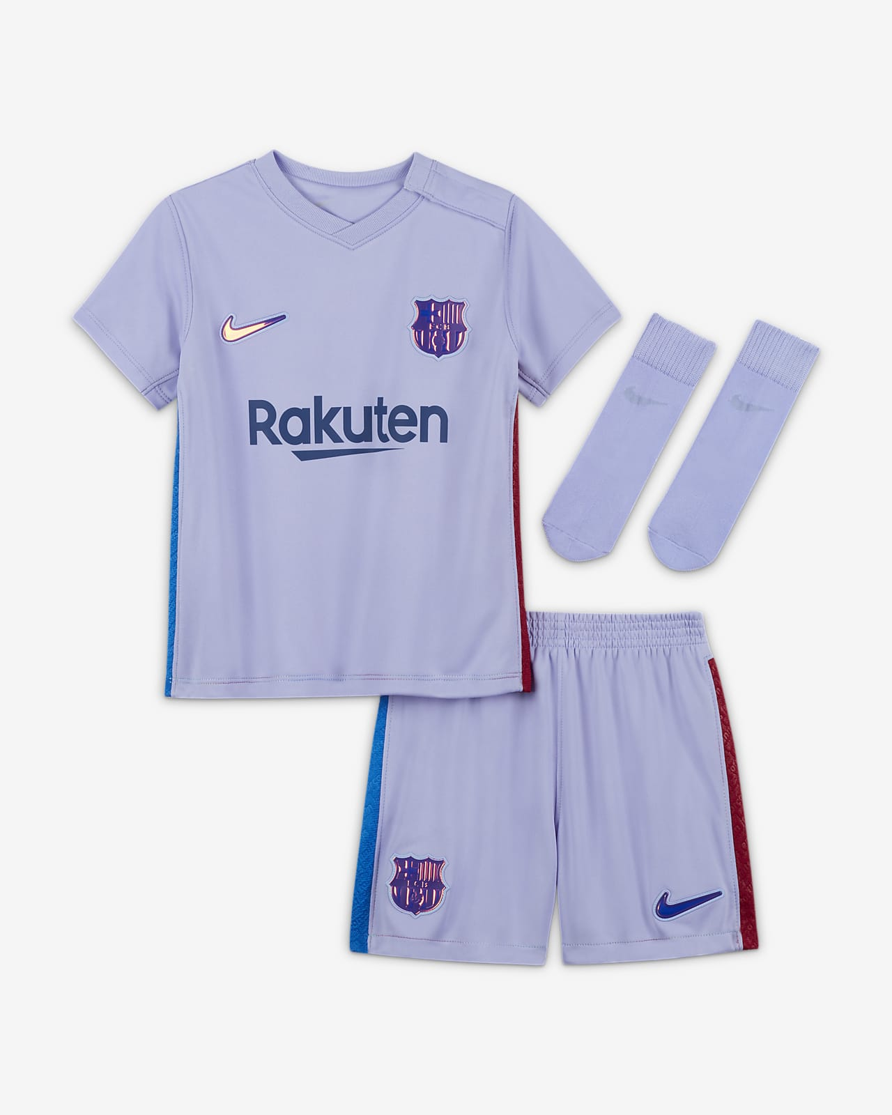 Tenue de football FC Barcelona 2021/22 Extérieur pour Bébé et Petit enfant