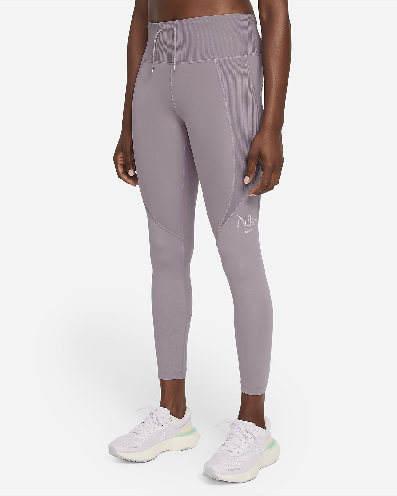 เลกกิ้งวิ่งผู้หญิง 7/8 ส่วน Nike Dri-FIT Femme Fast