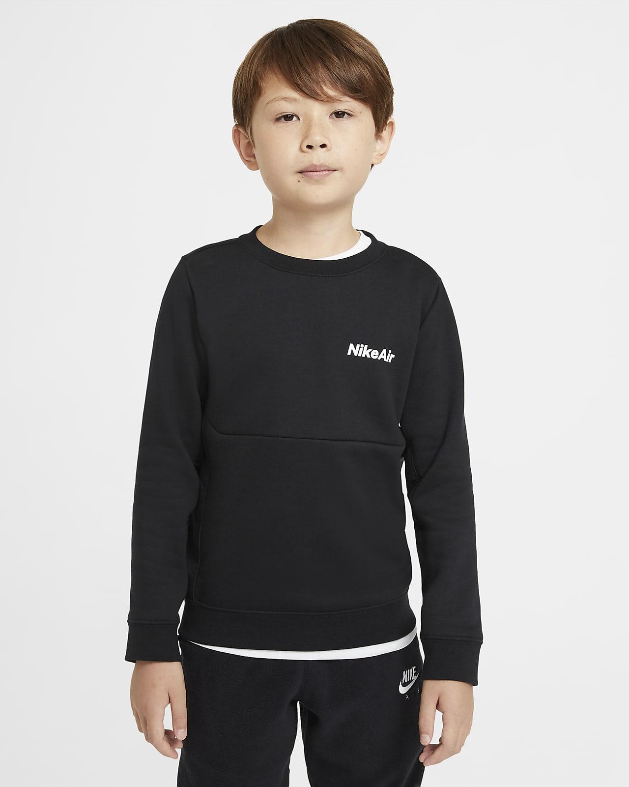 Nike Air hosszú ujjú, kerek nyakkivágású pulóver nagyobb gyerekeknek (fiúknak)