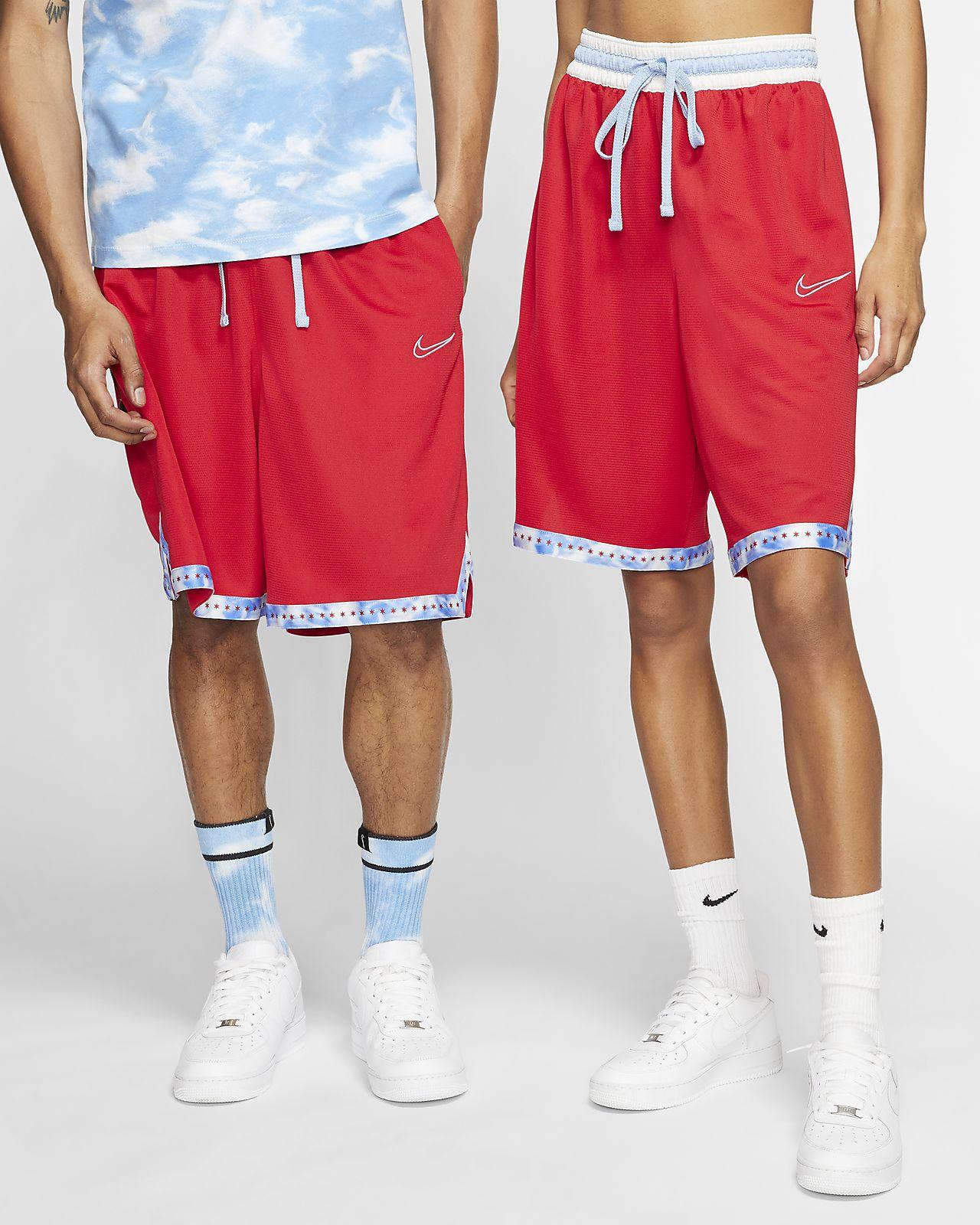 Nike Dri-Fit Men/'s SZ M DNA Zip Pocket Red//Black Basketball Shorts Training